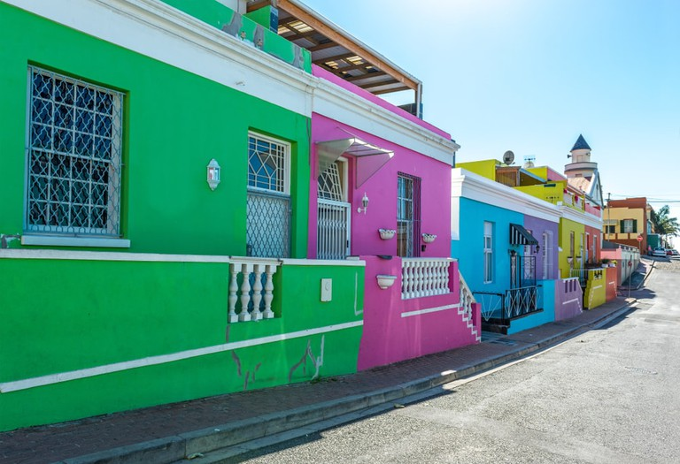 Row of houses in Bo-Kaap, Cape Town