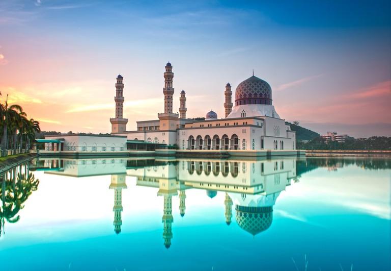 Kota Kinabalu floating city mosque