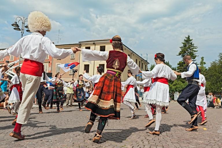 Folk dance group from Belgrade, Serbia
