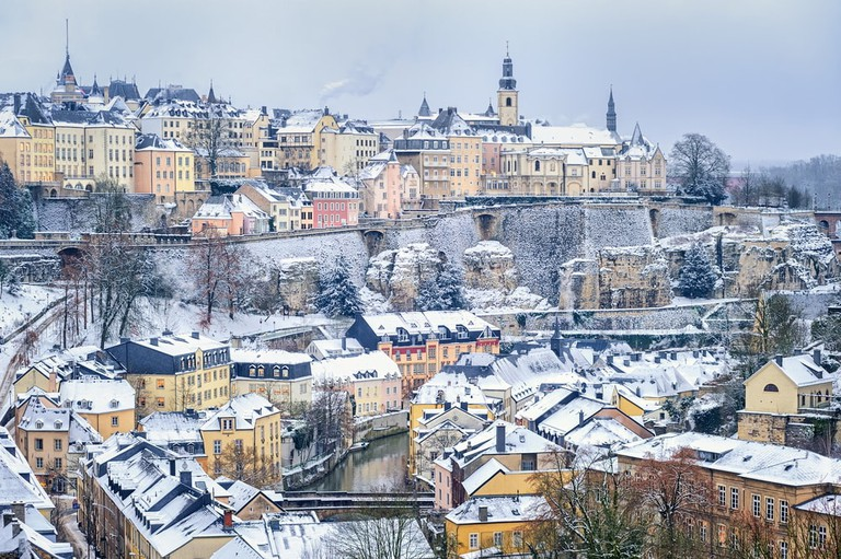 Winter in Luxembourg City