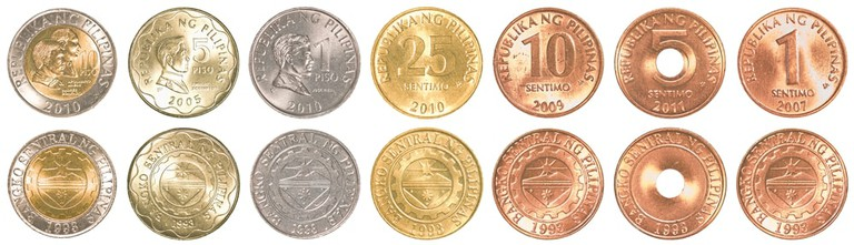 Philippines peso coins