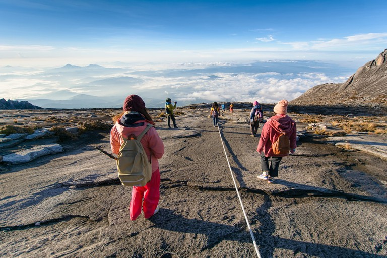 Splendid view from the top of Sabah's Mount Kinabalu