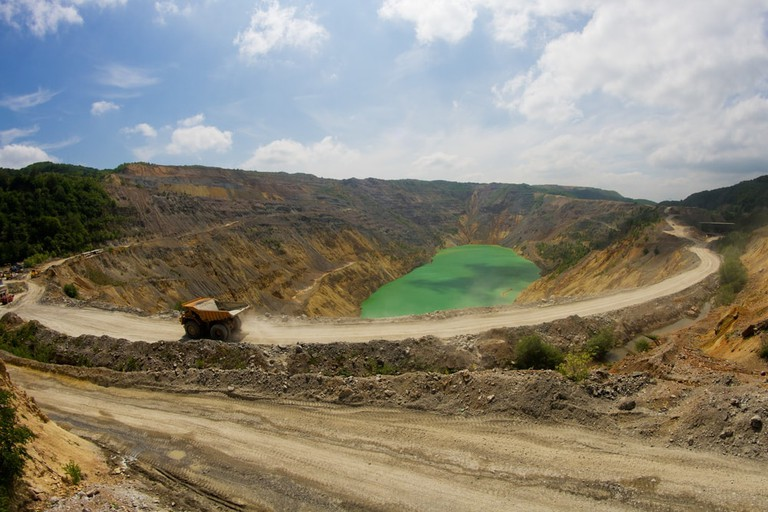 Copper surface mining in Bor, Serbia