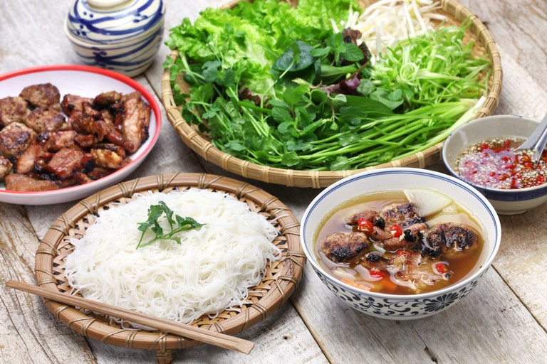 All the makings of great bun cha