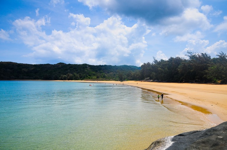 Beautiful Dam Trau beach in Con Dao island, Vietnam