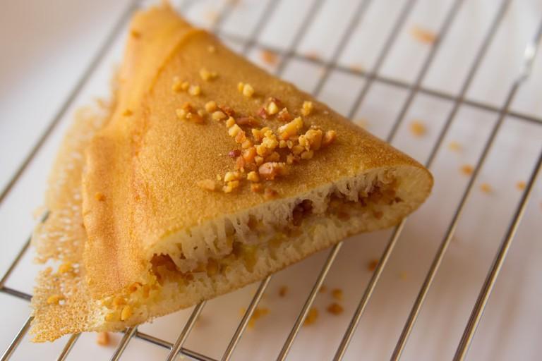 Apam Balik or Peanut Pancake Turnover, Malaysian Local Dessert