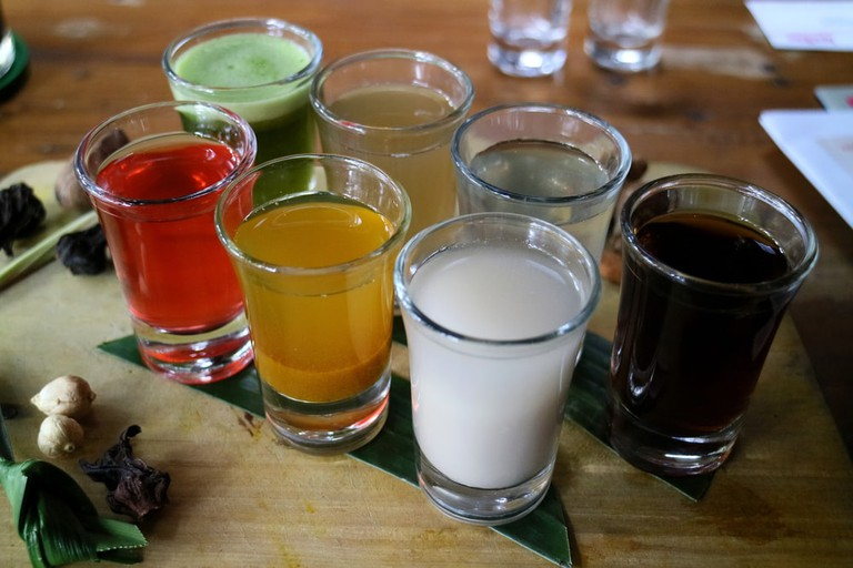 Traditional Jamu medicine and herbal drink in Indonesia, most prevalent in Java