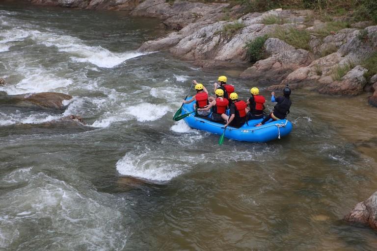 Water rafting activity in My Gopeng Resort, Perak, Malaysia