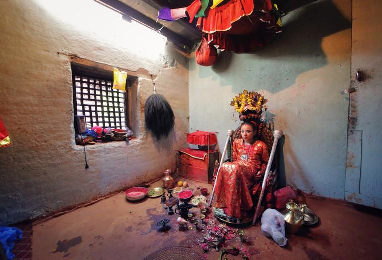 Living Goddess Kumari in Patan, Nepal