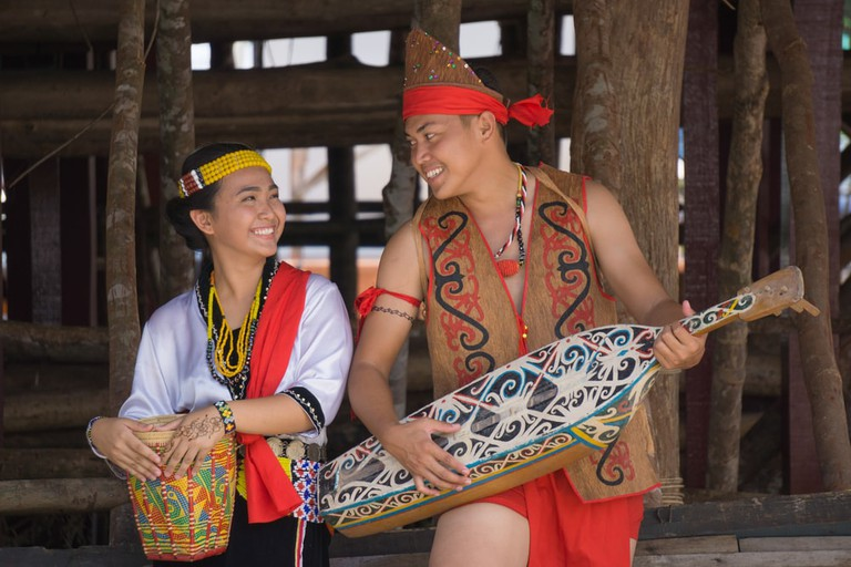 Traditional costume of the Lundayeh tribe from Sipitang, Sabah