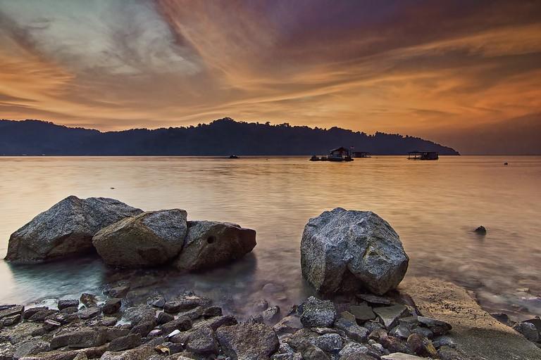 Sea facing Jerejak Island