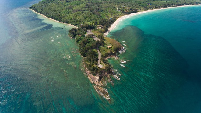 Aerial view of the tip of Borneo