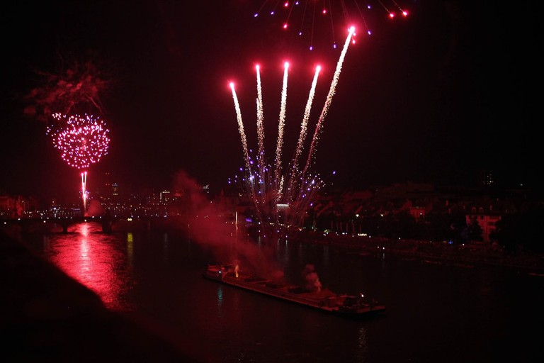 Fireworks in Basel for National Day