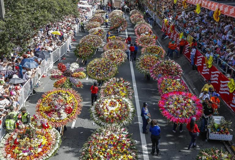 Flower fair, Parade of Silleteros, Medellín, Colombia