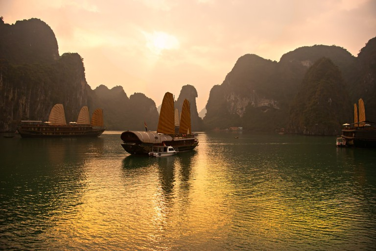 Halong Bay, Vietnam. Unesco World Heritage Site