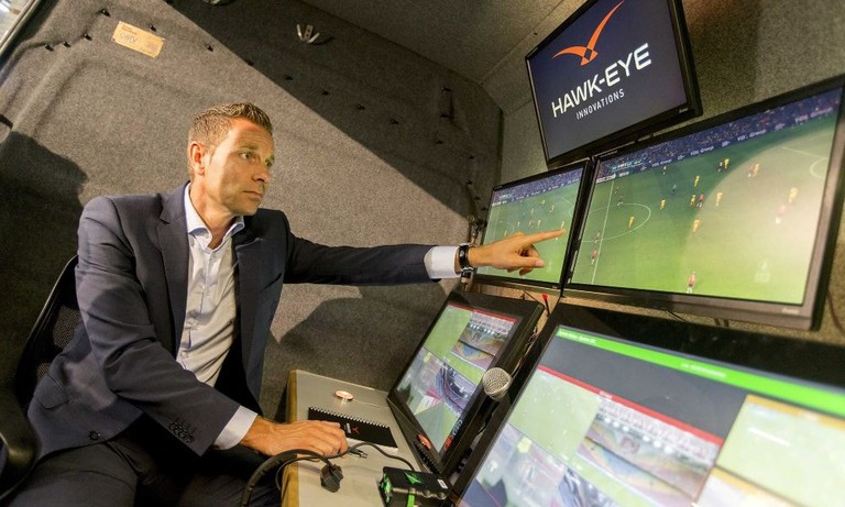 The VAR system being shown off by developers Hawk-Eye
