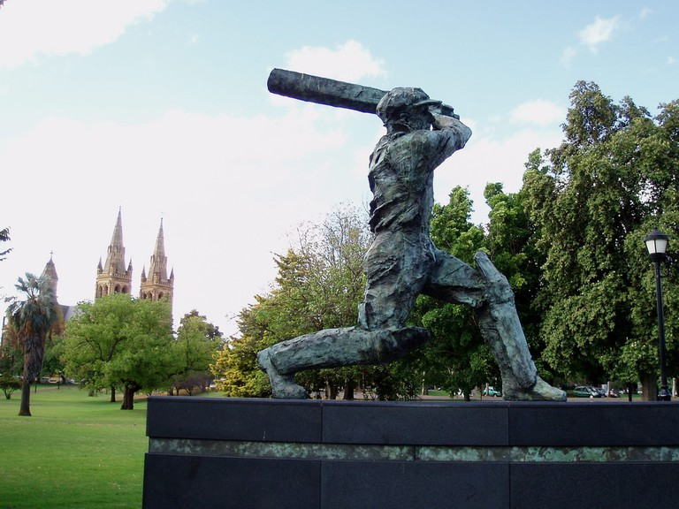 Statue of Sir Donald Bradman at the Adelaide Oval