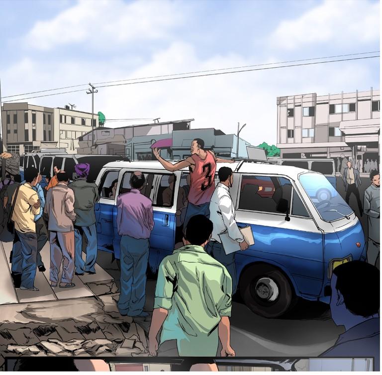 Taxi Scene