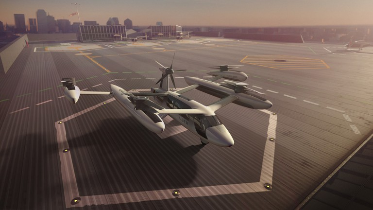Uber's flying taxi prototype