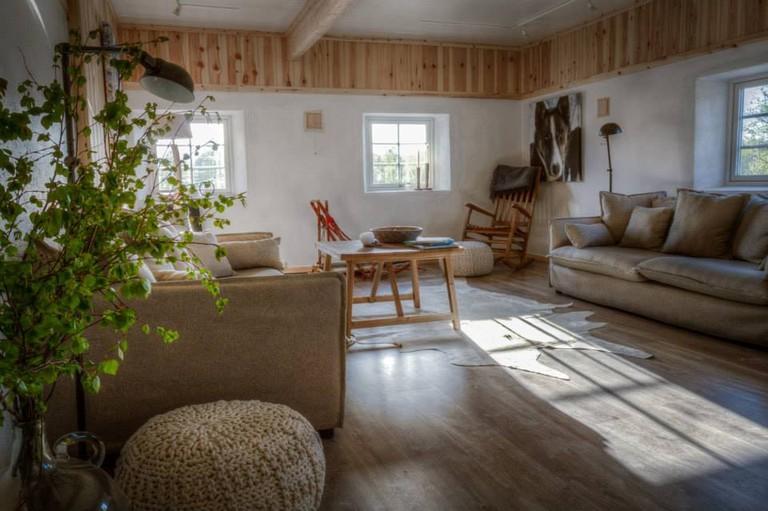 The interior of Holmen Husky Lodge