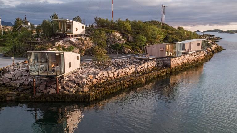 The seacabins on Manshausen island, Courtesy of Manshausen island
