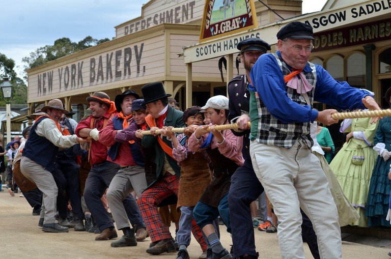 Tug of War at Sovereign Hill in Ballarat © Chris Fithall / Flickr