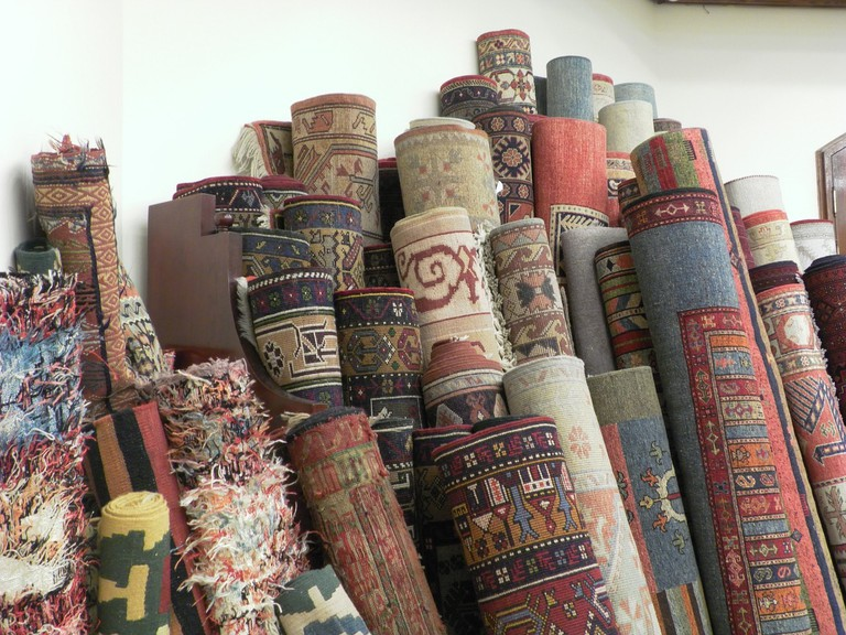 Carpets with typical Albanian patterns