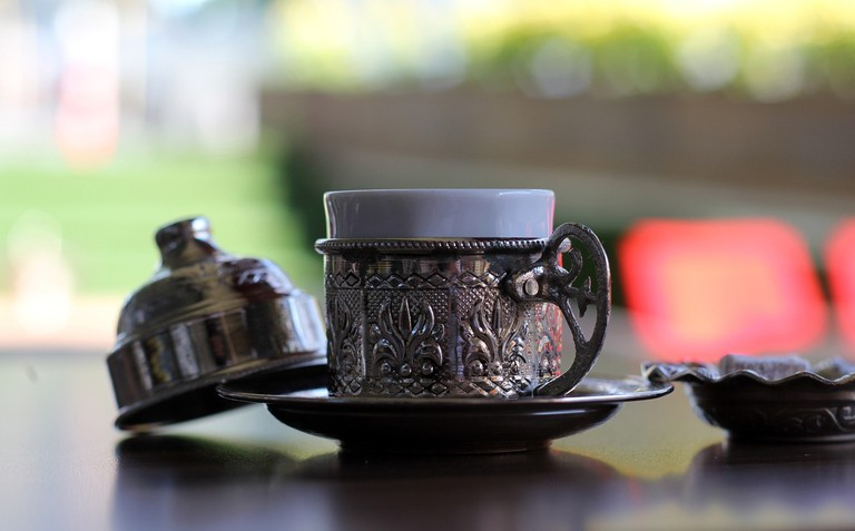 A cup of traditional Turkish coffee