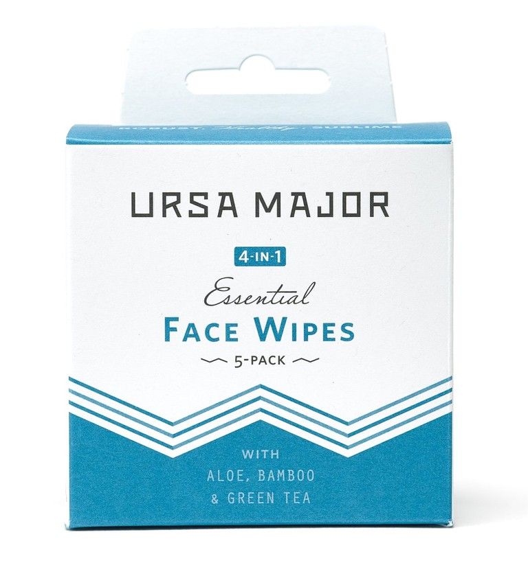 Vegan, paraben-free individually wrapped face wipes, ideal for travel