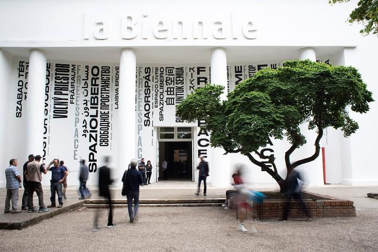 The Central Pavilion in the Giardini at La Biennale di Venezia, Venice, Italy