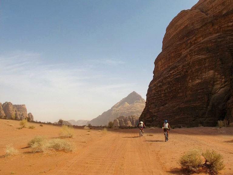 Cycling in Wadi Rum