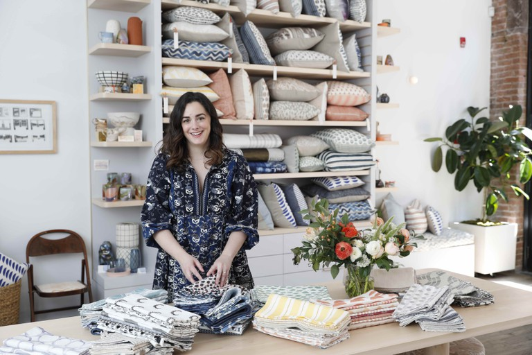 Designer Rebecca Atwood at her new flagship store in NoLIta