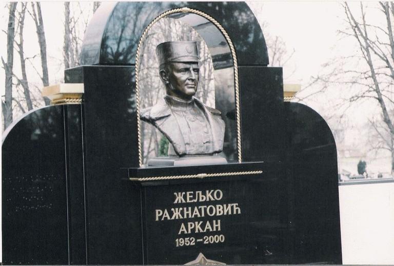 Arkan's grave in Belgrade