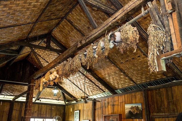 Skulls on display in Monsopiad Cultural Village