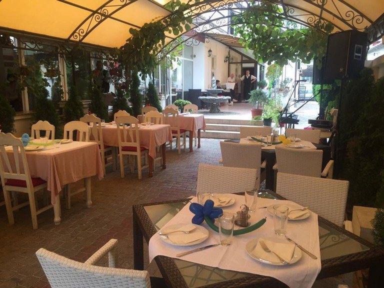 The terrace at Restaurant Kralj in Kraljevo