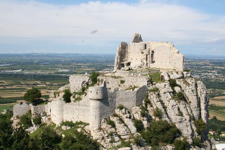 The ruins of Château de Crussol, Ardèche