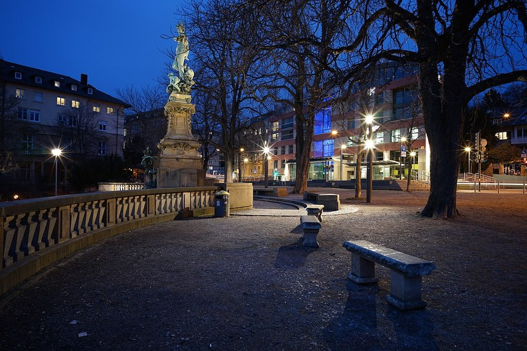 Eugensplatz with the statue of Galatea