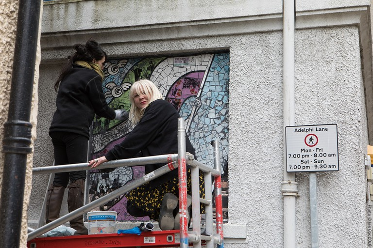 Artist Carrie Reichardt Creates Ceramic Mural 'Suffragette Spirit' For Nuart Aberdeen And Amnesty International | © Ian Cox Photography