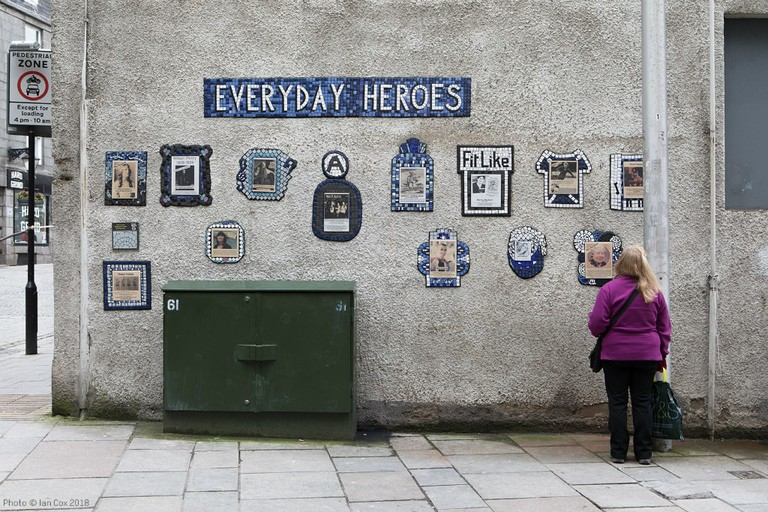 'Everyday Heroes' Ceramic Community Mural By Artist Carrie Reichardt And The People Of Aberdeen For Nuart Aberdeen | © Ian Cox Photography