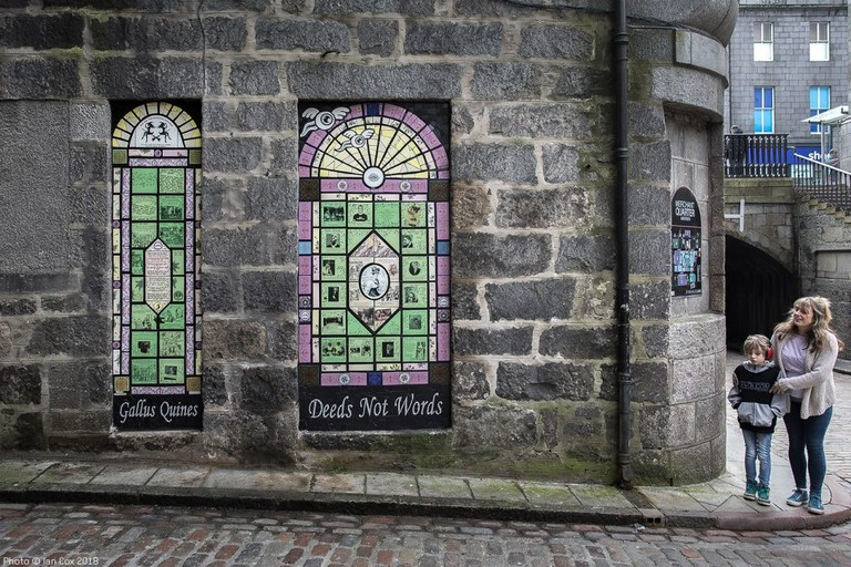 'We Are Witches' And 'Trailblazing Women Of Aberdeen' Ceramic Murals By Artist Carrie Reichardt For Nuart Aberdeen | © Ian Cox Photography