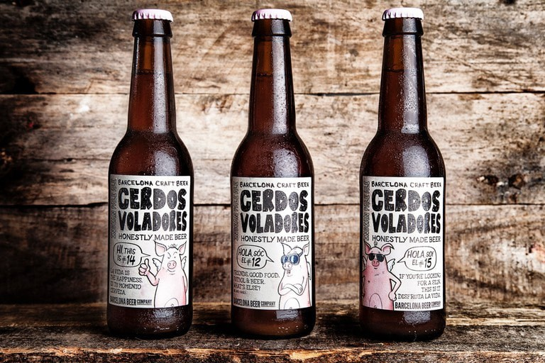 The Flying Pigs or 'Cerdos Voladores' Courtesy of Barcelona Beer Company