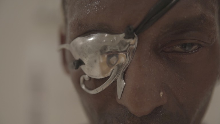 Michael Olajide Jr was forced to retire in 1991 when he became legally blind in his right eye