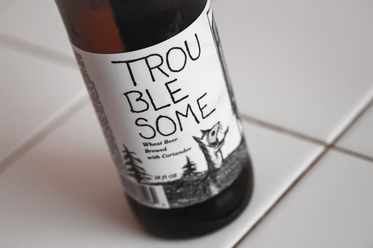 Off Color Brewing's Troublesome brew is actually a blend of two unique beers combined with coriander.