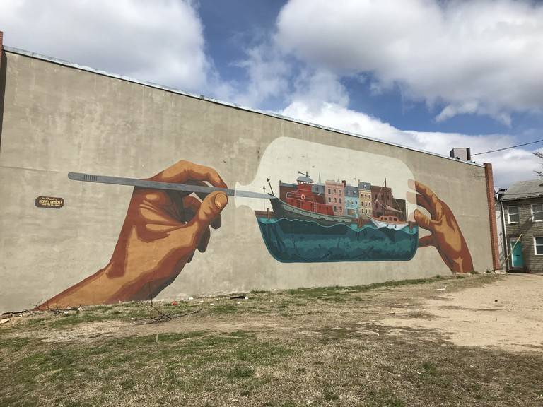 Fells Point Mural, Kerry Cesen, Baltimore Maryland.