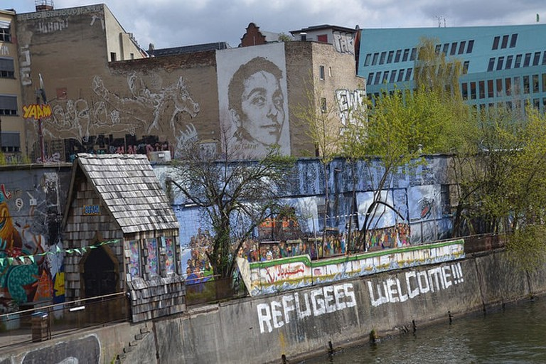 Berlin Refugees Welcome Mural