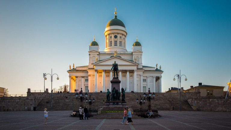The Cathedral at sunset - Helsinki, FInland - Architecture photo