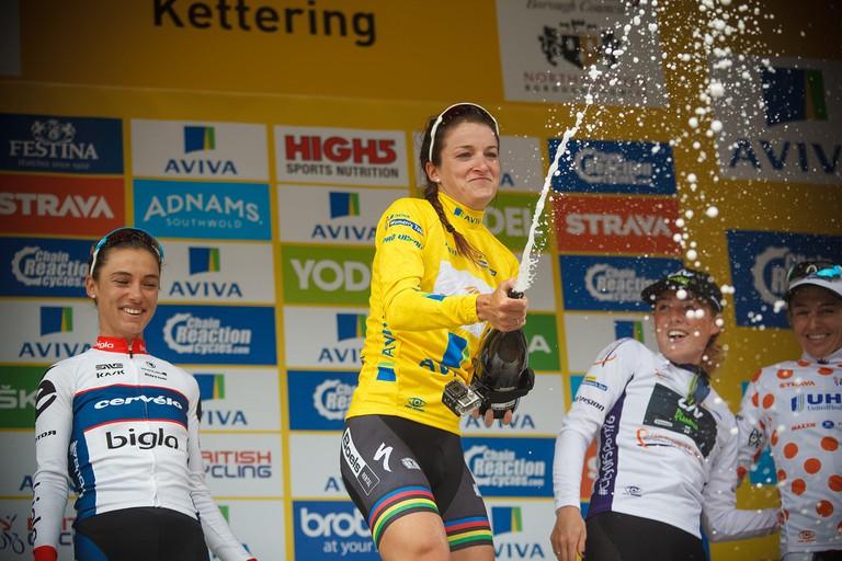 Lizzie Deignan and her 2016 Women's Tour win