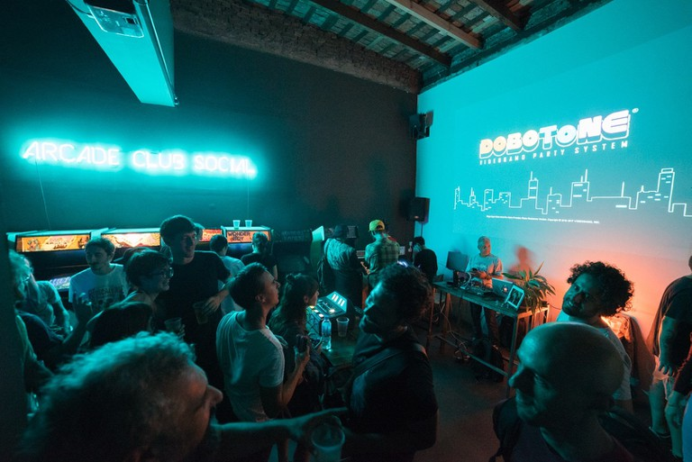 With a peculiar underground vibe, Arcade Club Social has become the go-to place for indie game developers and enthusiasts