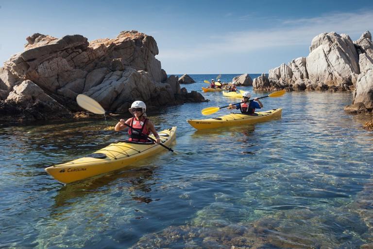 sea kayaking in the Costa Brava, Catalonia