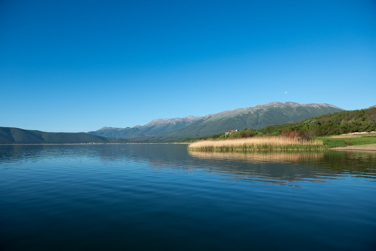 Prespa Lake is divided between Albania, Macedonia and Greece